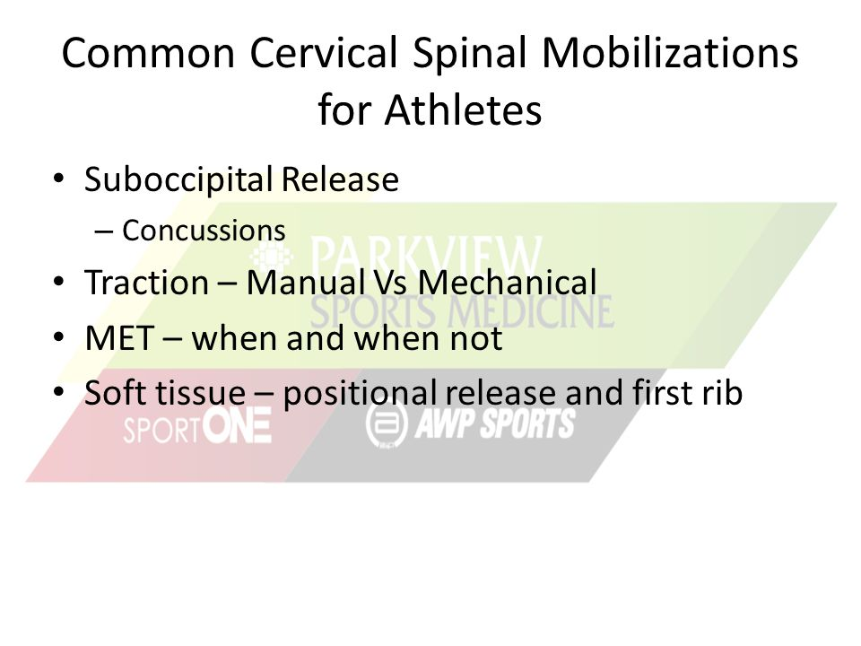 Common Cervical Spinal Mobilizations for Athletes