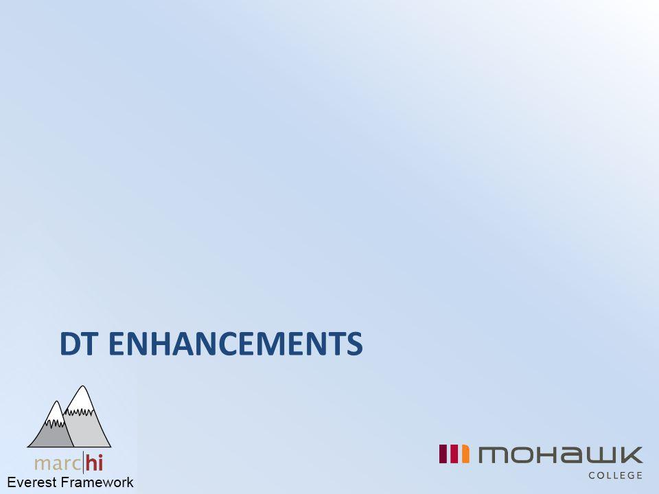 DT Enhancements