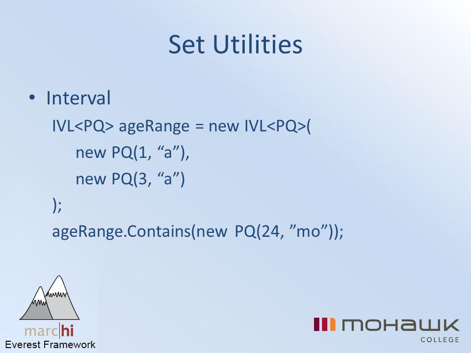 Set Utilities Interval IVL<PQ> ageRange = new IVL<PQ>(