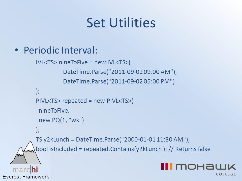 Set Utilities Periodic Interval:
