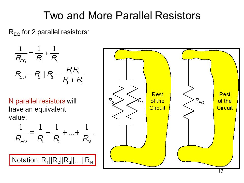 Two and More Parallel Resistors