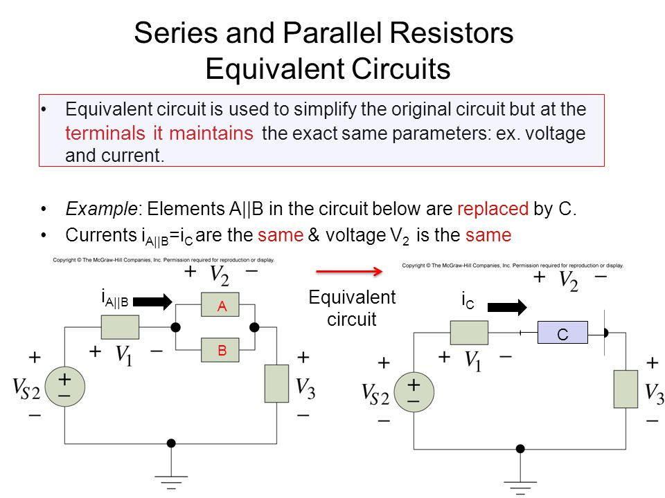 Series and Parallel Resistors Equivalent Circuits