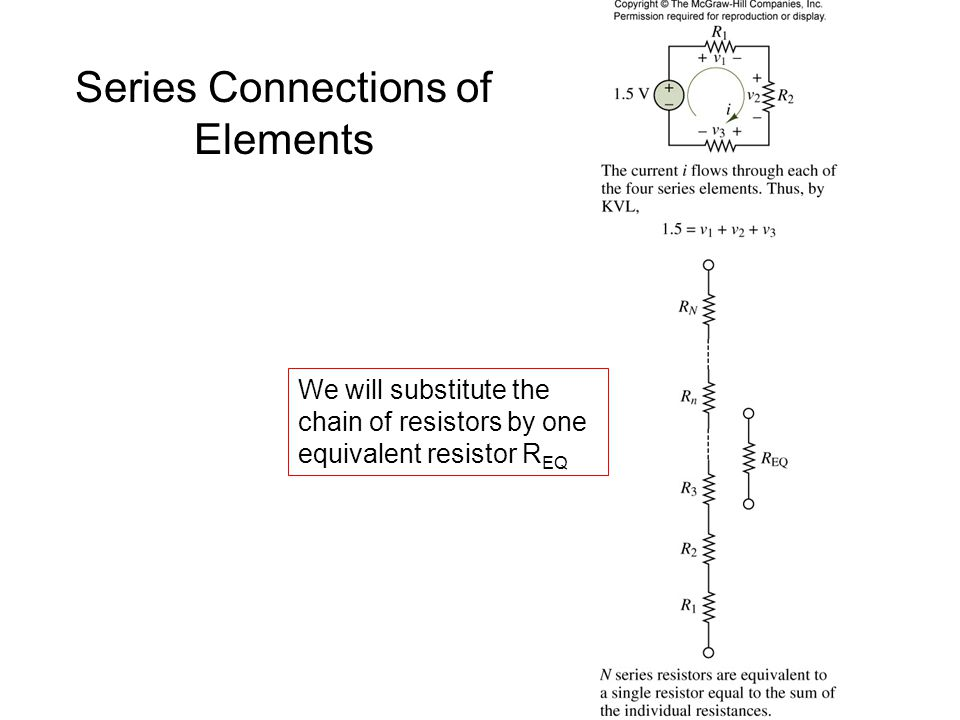 Series Connections of Elements