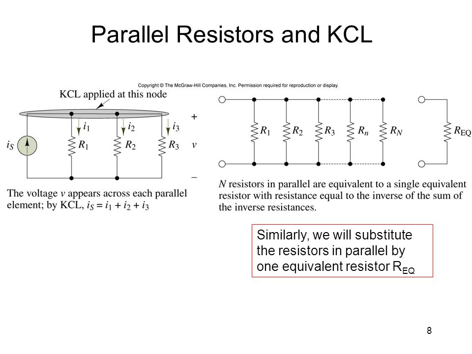 Parallel Resistors and KCL