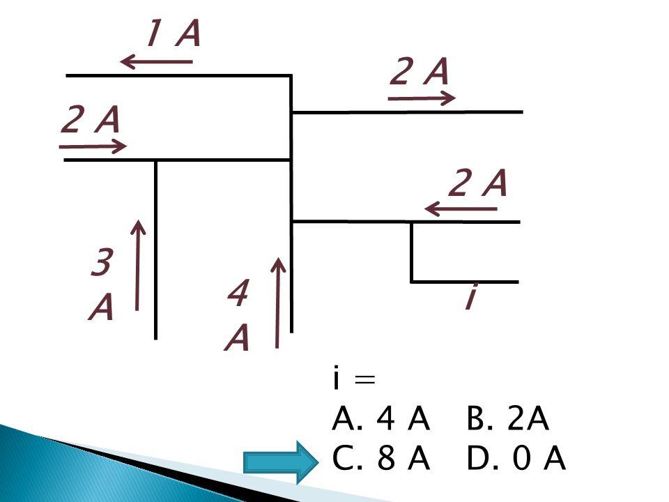 1 A 2 A 2 A 2 A 3A 4A i i = 4 A B. 2A C. 8 A D. 0 A