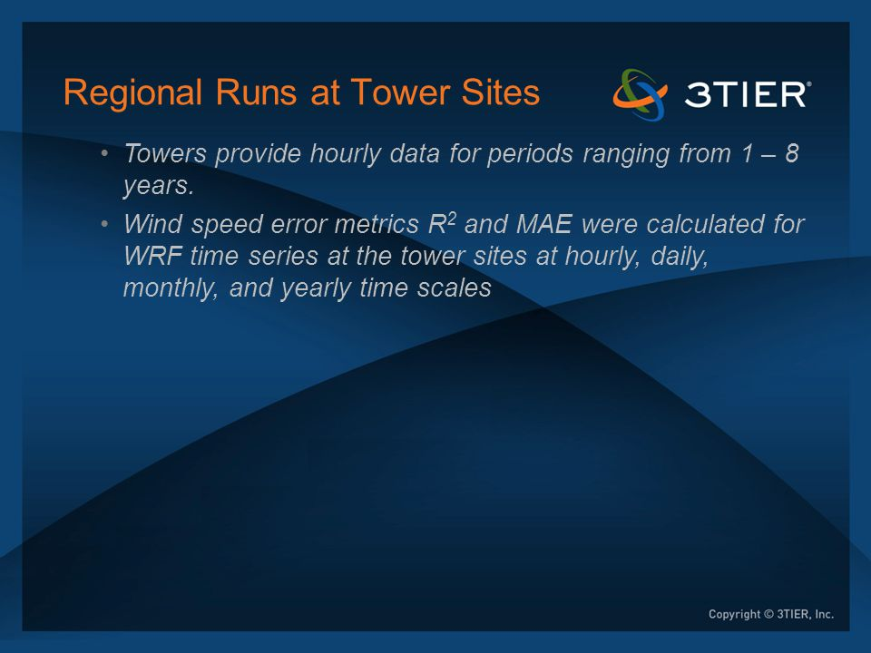 Regional Runs at Tower Sites