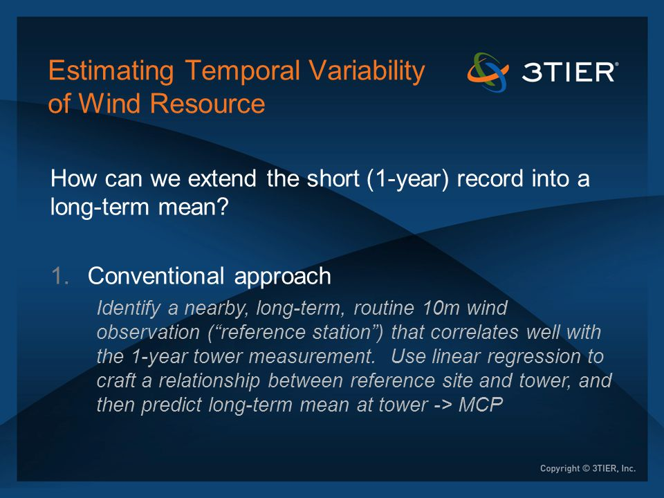Estimating Temporal Variability of Wind Resource