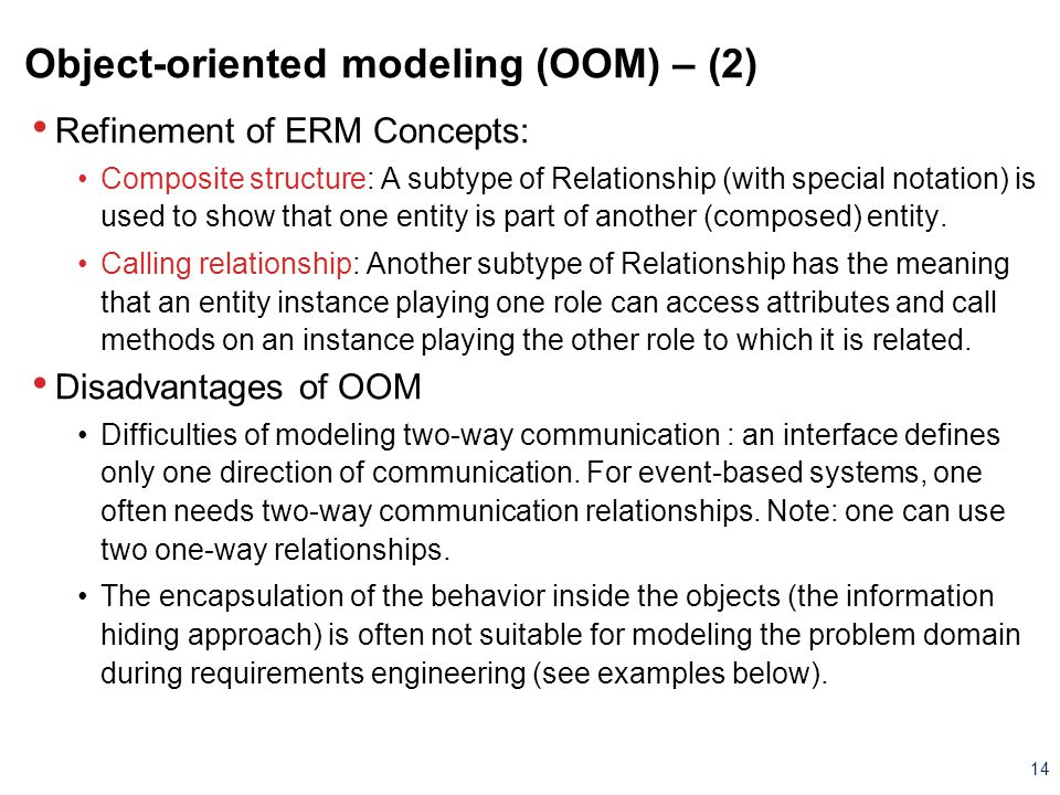 Object-oriented modeling (OOM) – (2)