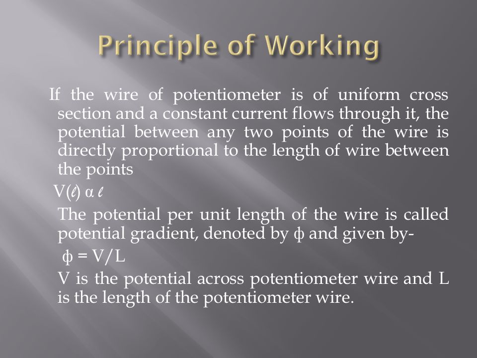 Principle of Working