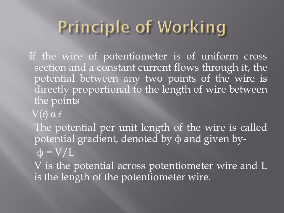 Principle of Working