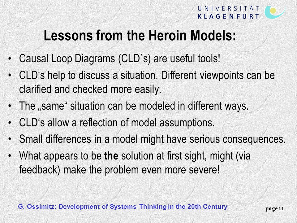 Lessons from the Heroin Models: