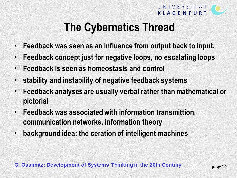 The Cybernetics Thread