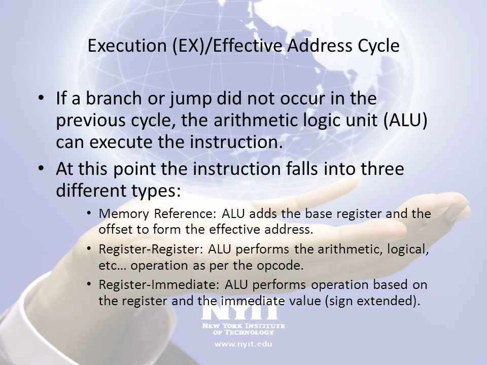 Execution (EX)/Effective Address Cycle