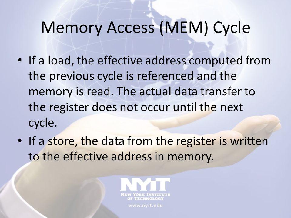 Memory Access (MEM) Cycle