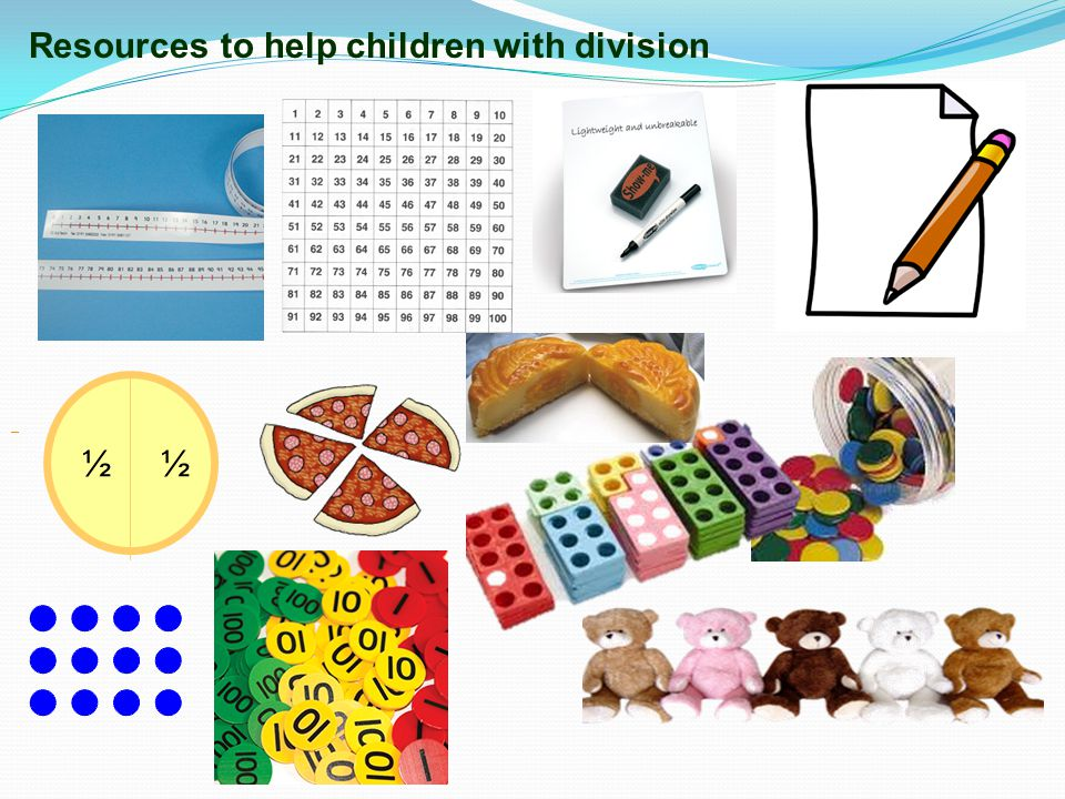 Resources to help children with division