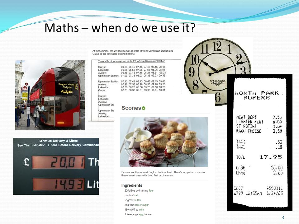 Maths – when do we use it
