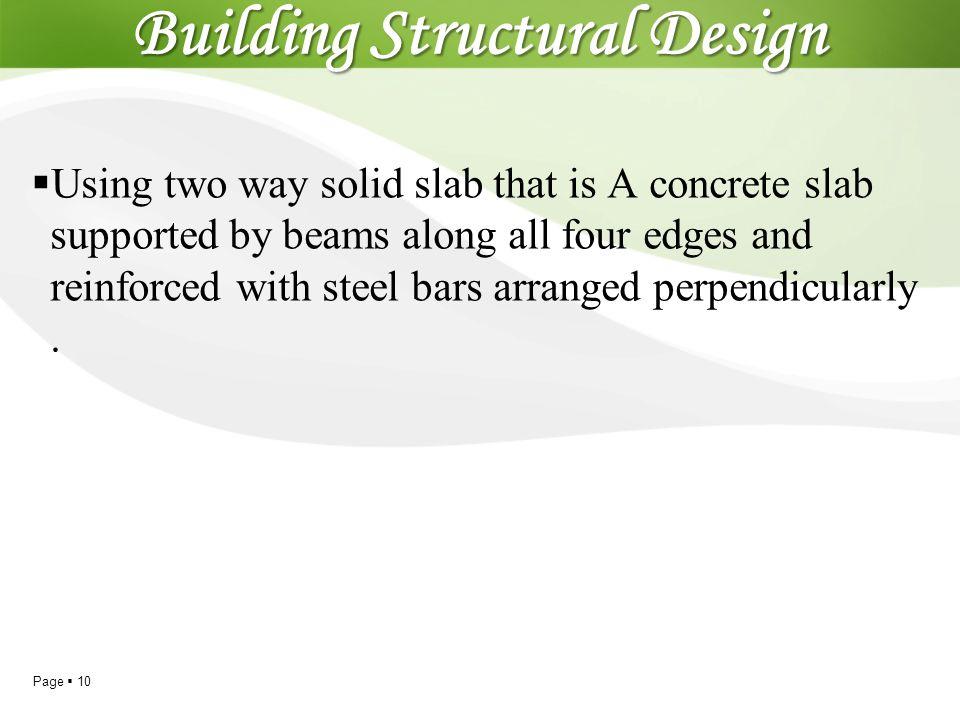 Building Structural Design