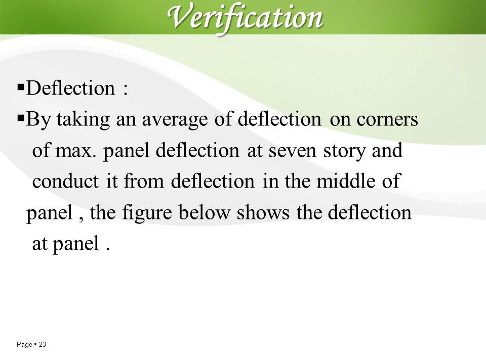 Verification Deflection :