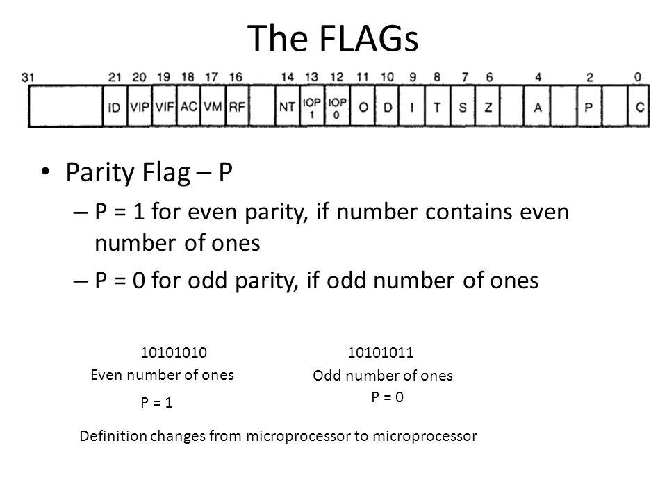 The FLAGs Parity Flag – P