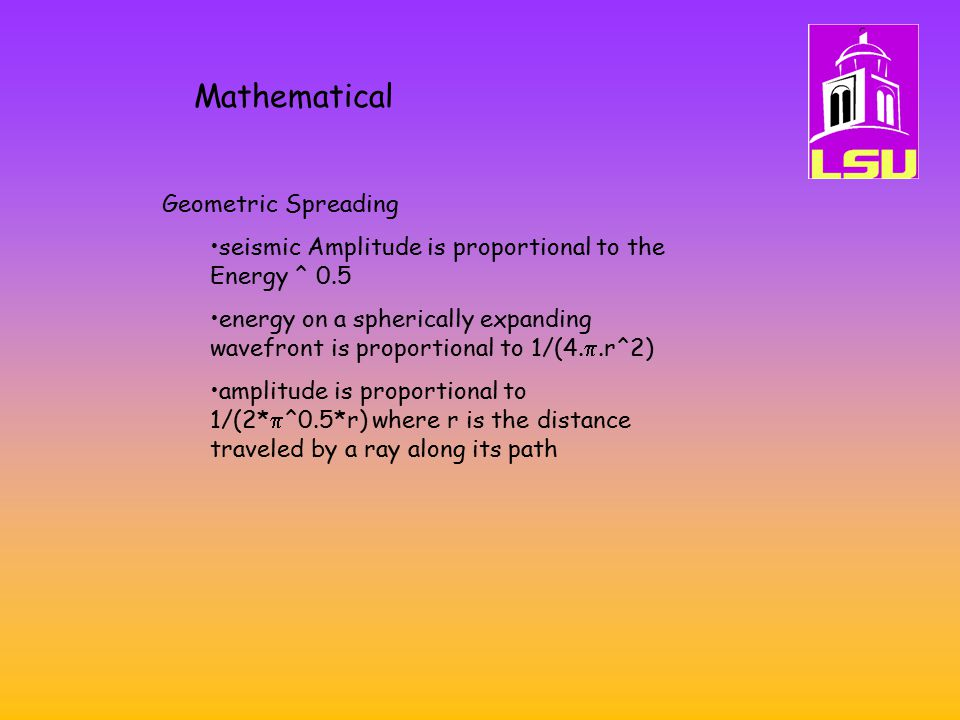 Mathematical Geometric Spreading