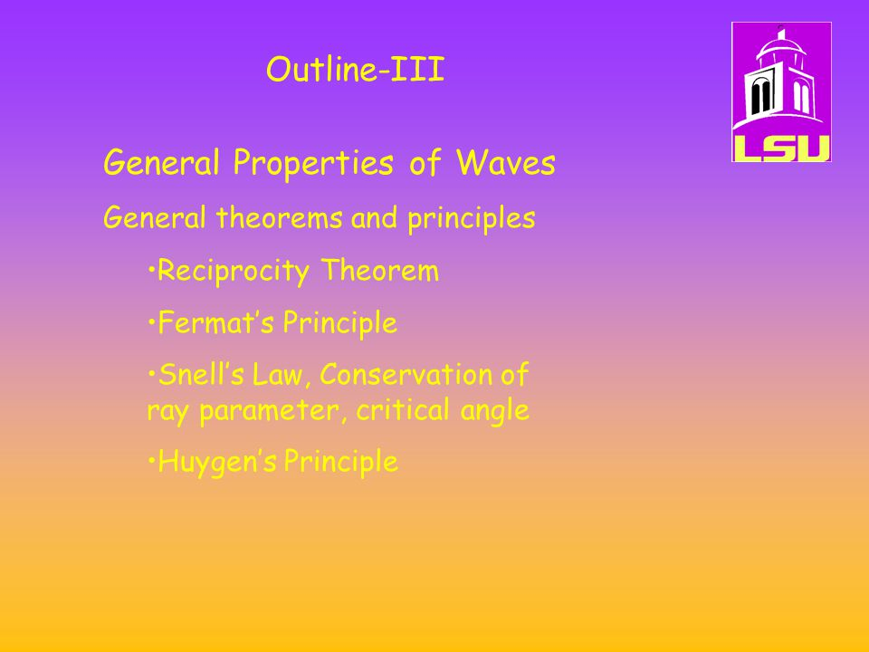 General Properties of Waves