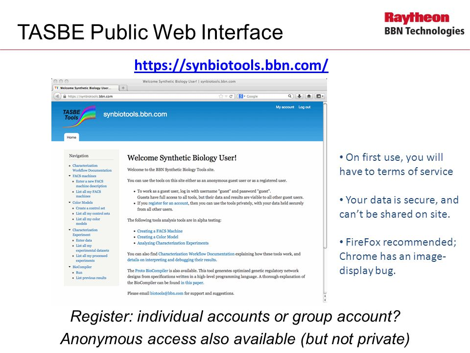 TASBE Public Web Interface