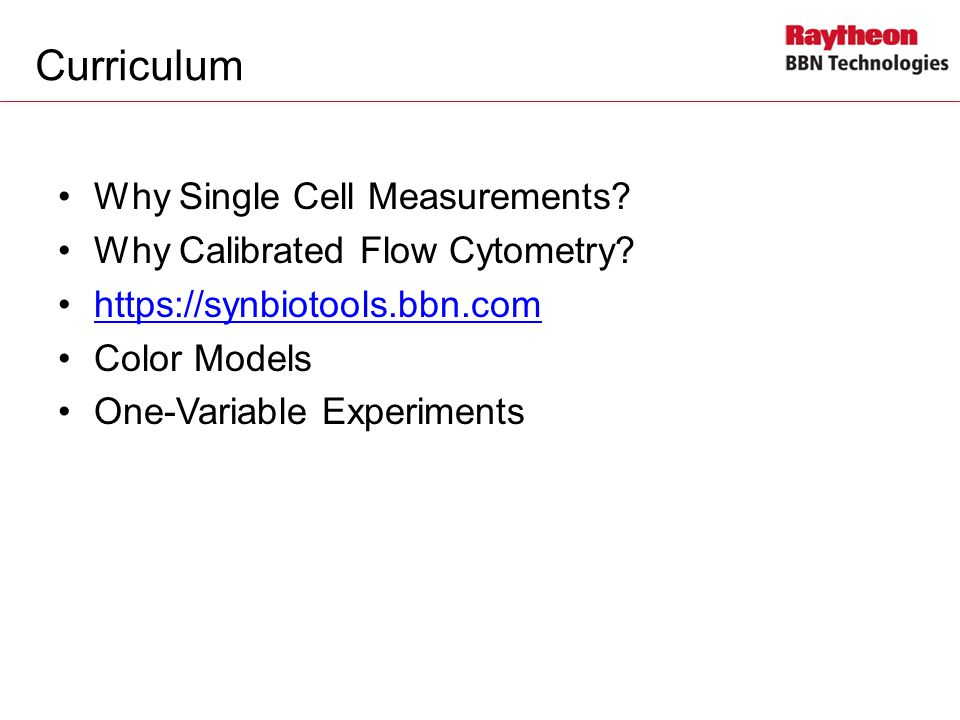 Curriculum Why Single Cell Measurements