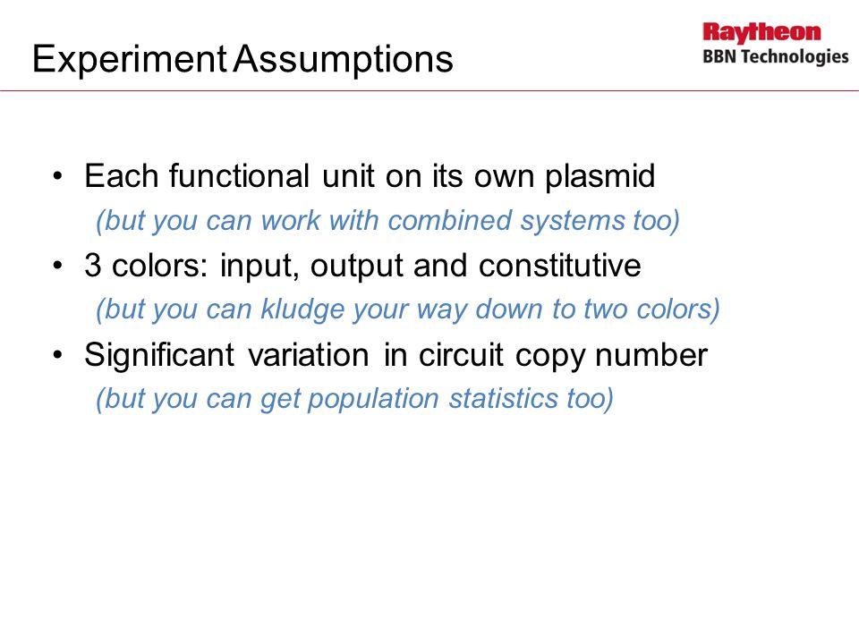 Experiment Assumptions