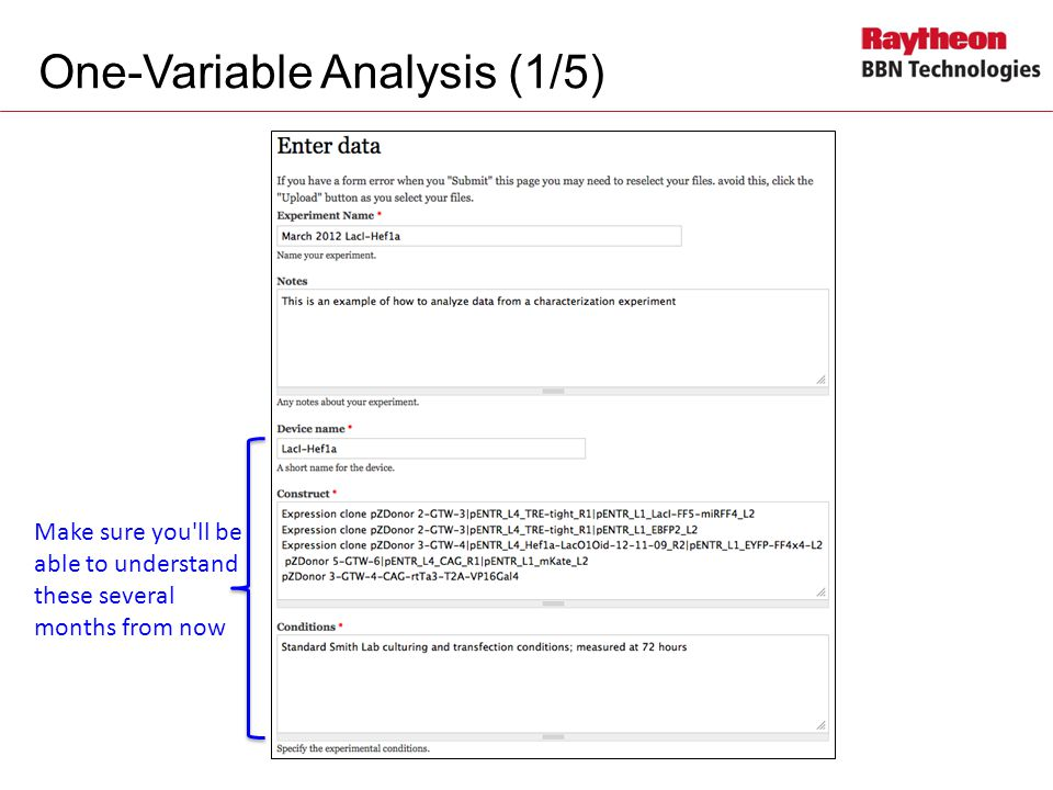 One-Variable Analysis (1/5)