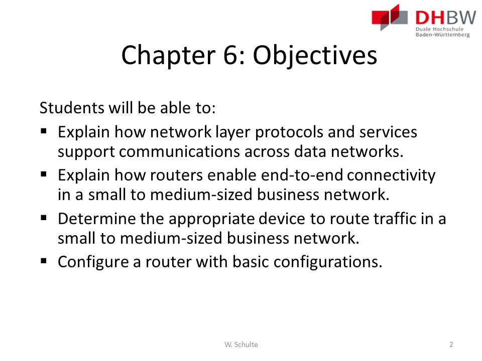 Chapter 6: Objectives Students will be able to: