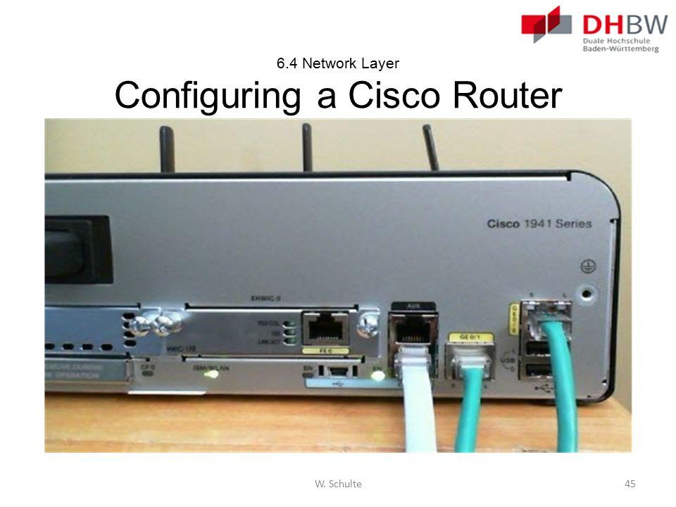 6.4 Network Layer Configuring a Cisco Router