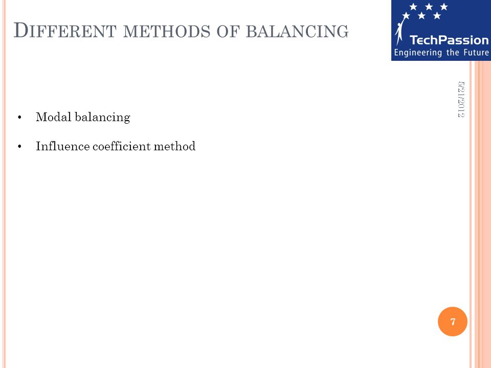 Different methods of balancing