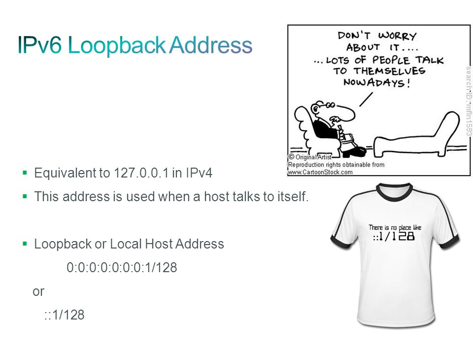 IPv6 Loopback Address Equivalent to 127.0.0.1 in IPv4