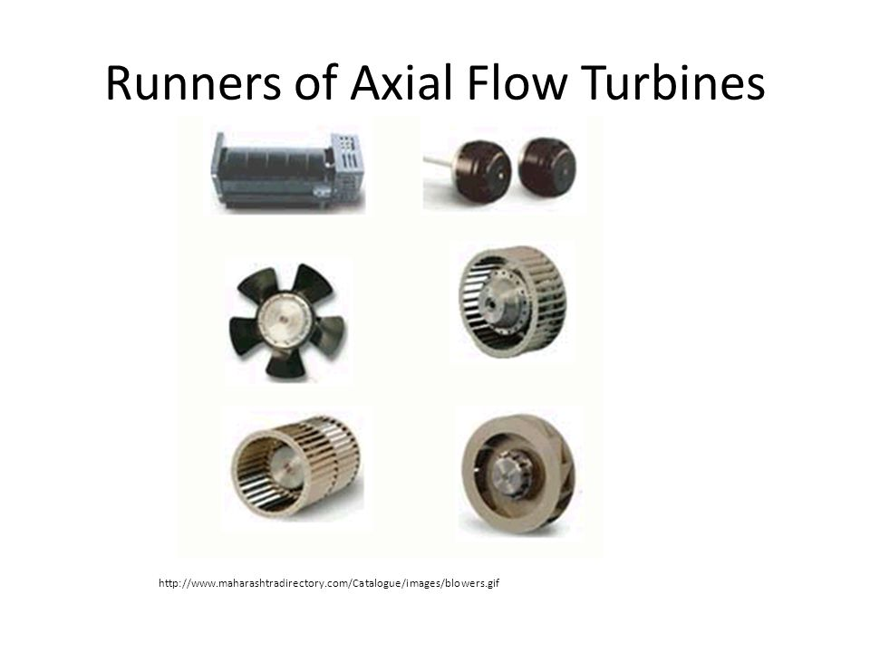 Runners of Axial Flow Turbines