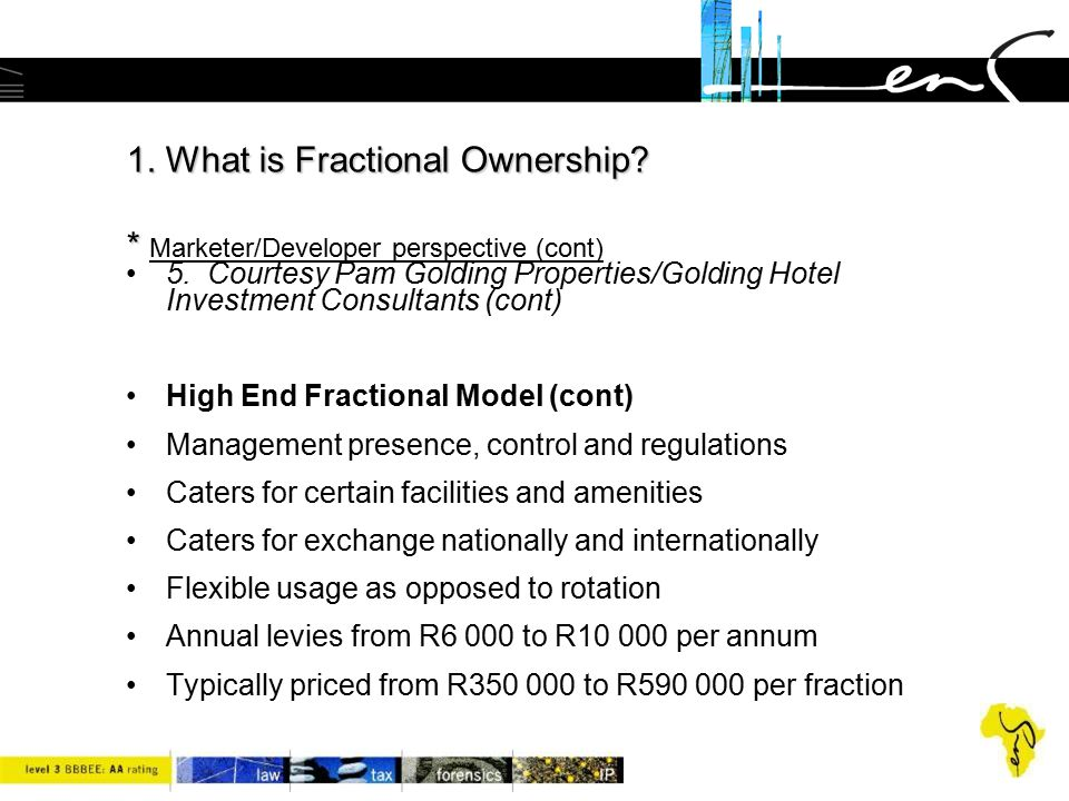 1. What is Fractional Ownership * Marketer/Developer perspective (cont)