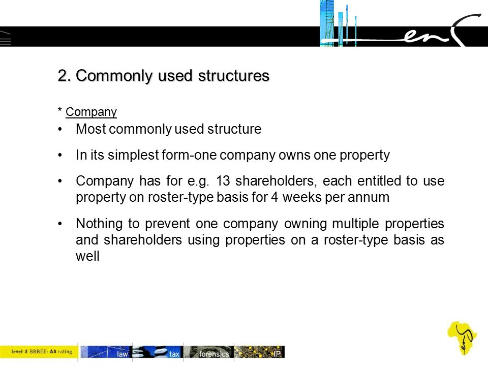 2. Commonly used structures * Company