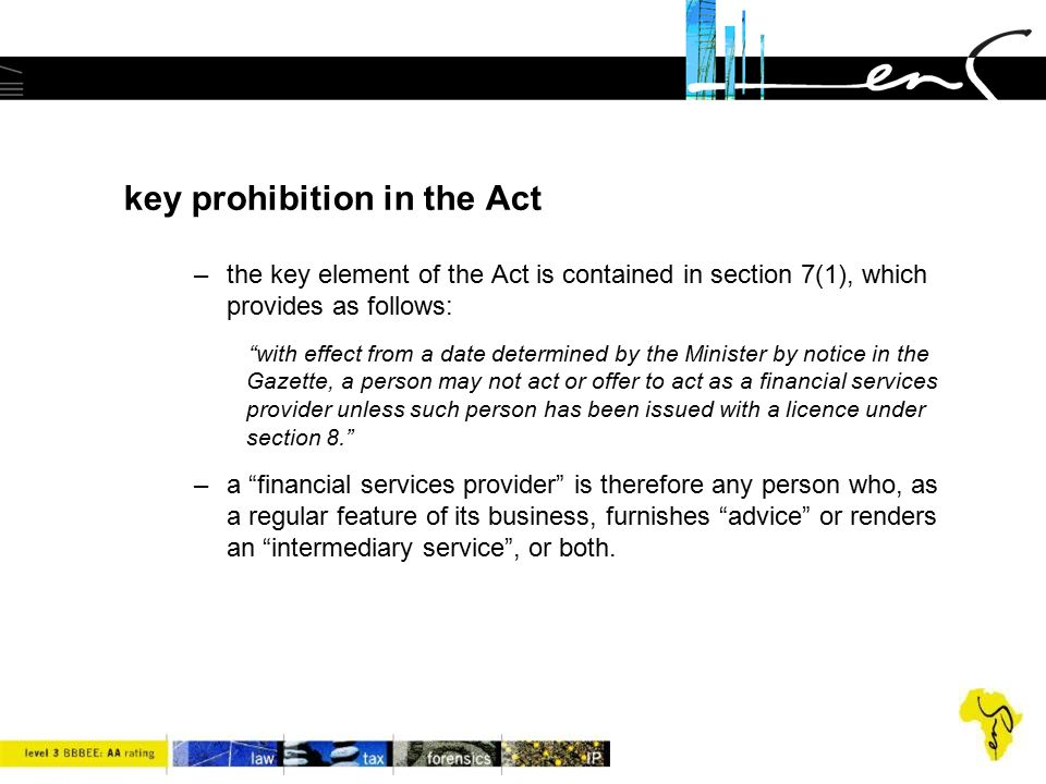 key prohibition in the Act