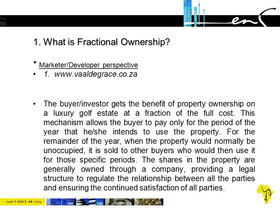 1. What is Fractional Ownership * Marketer/Developer perspective