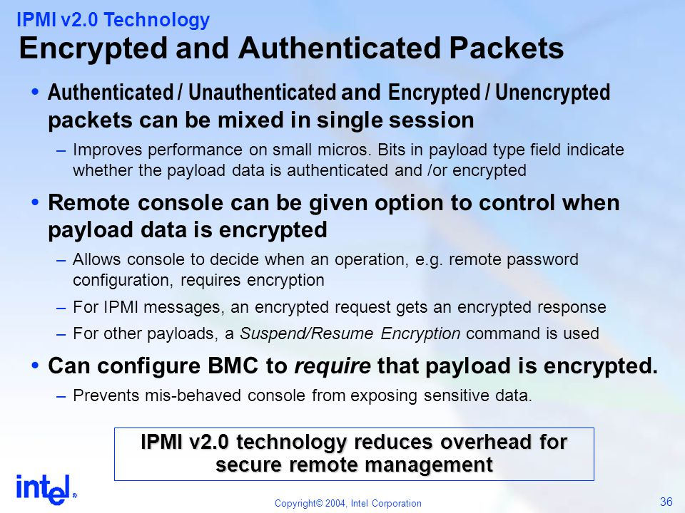 Encrypted and Authenticated Packets