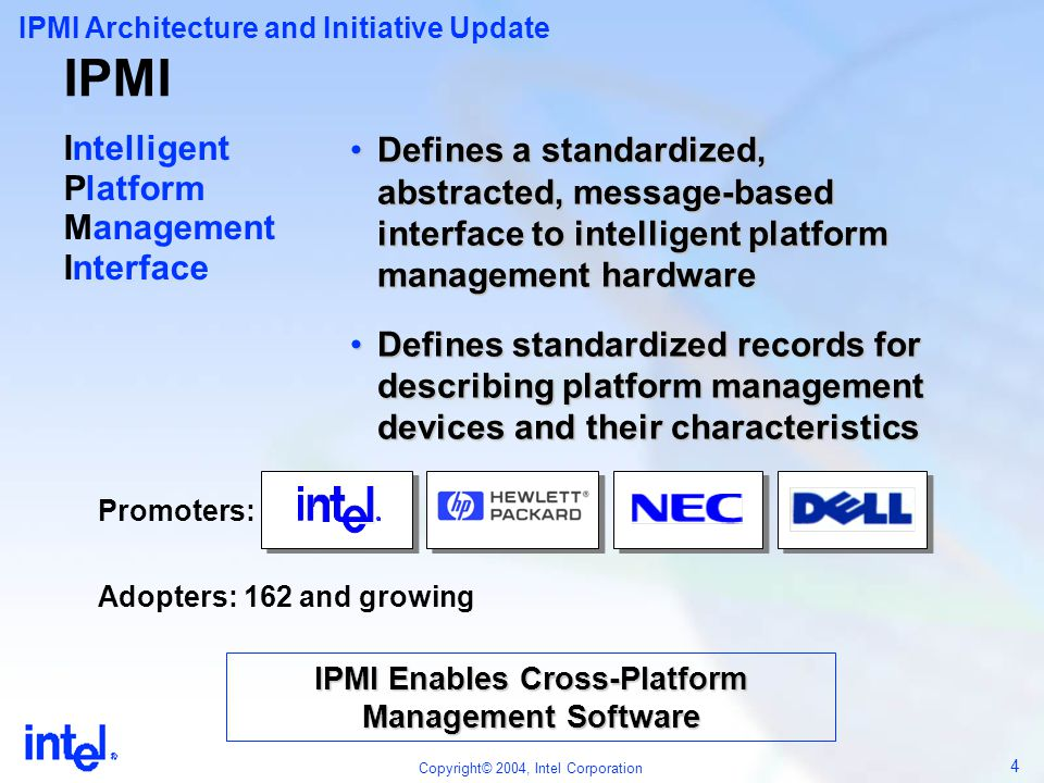 IPMI Enables Cross-Platform Management Software