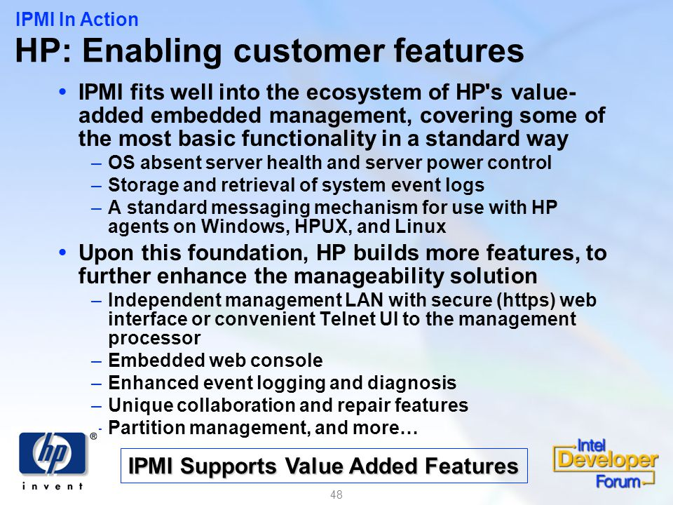 HP: Enabling customer features