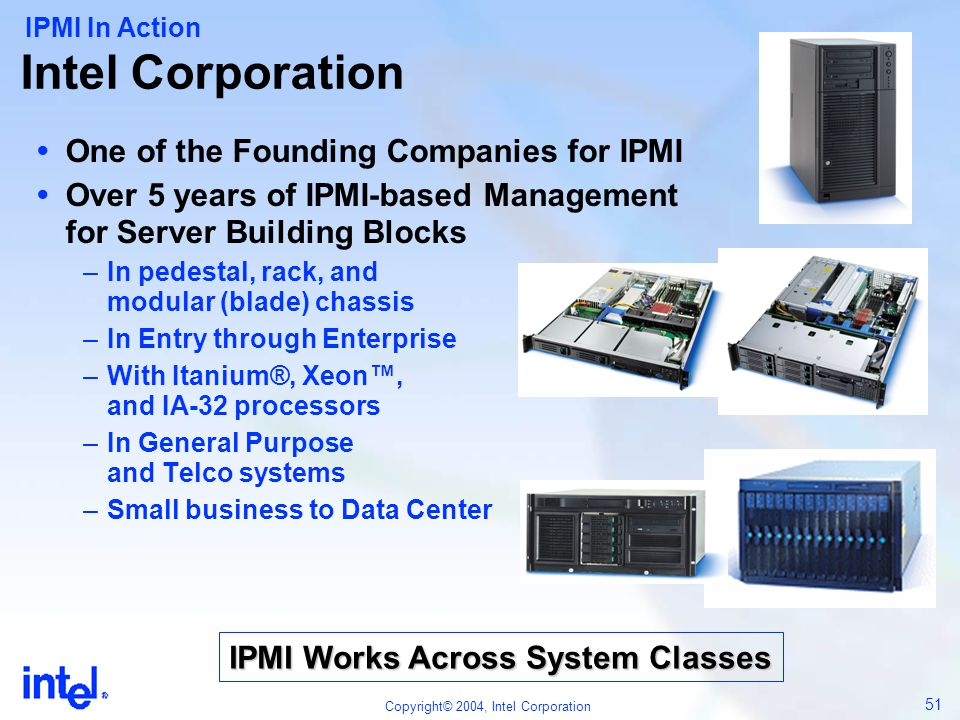 IPMI Works Across System Classes