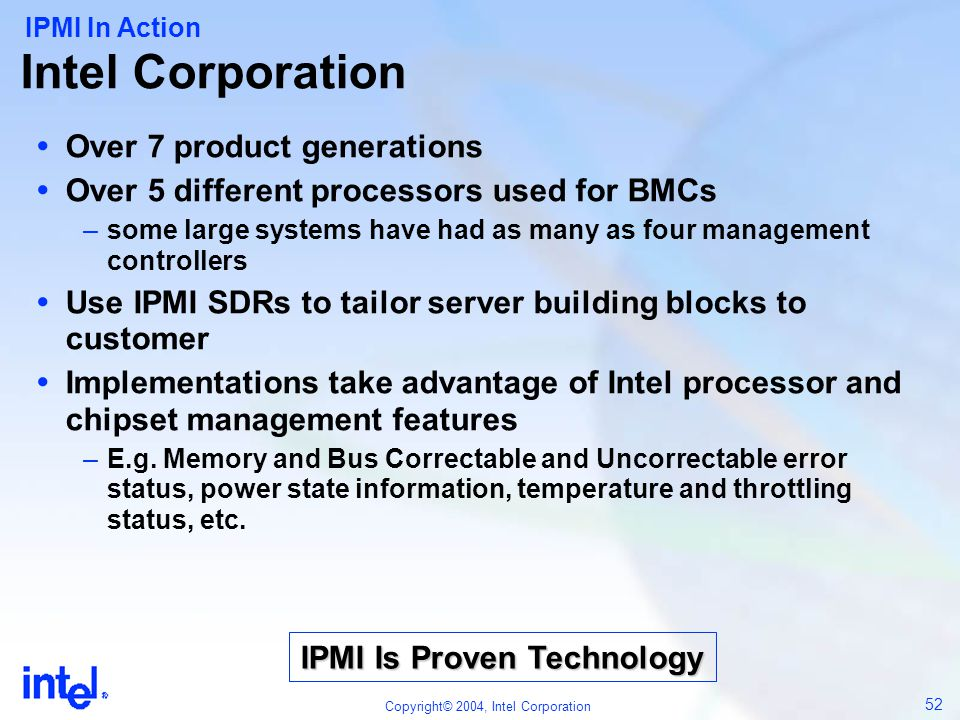 IPMI Is Proven Technology