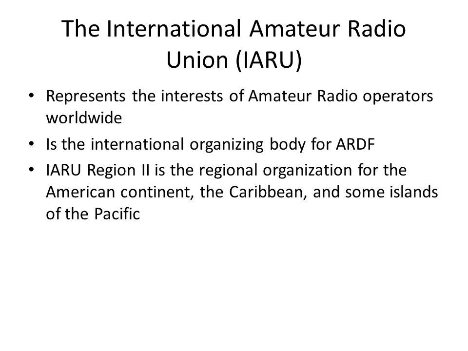 The International Amateur Radio Union (IARU)