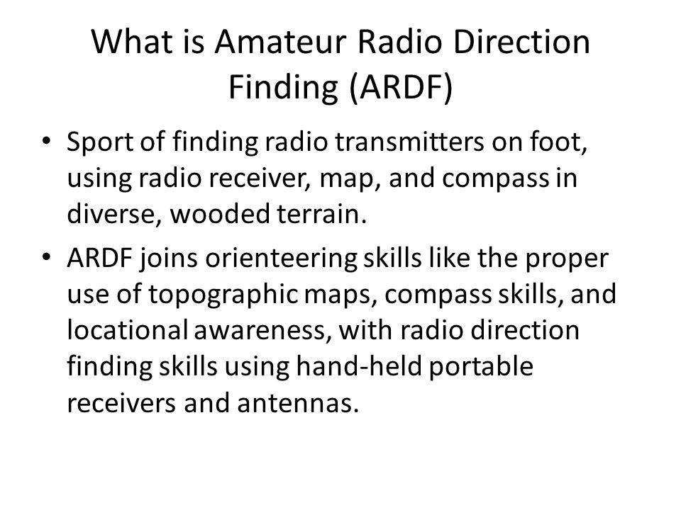 What is Amateur Radio Direction Finding (ARDF)