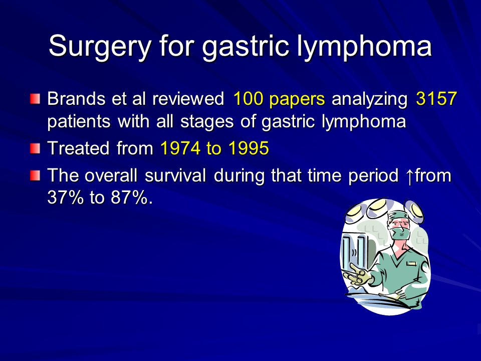 Surgery for gastric lymphoma