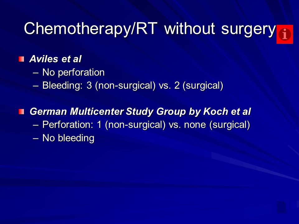 Chemotherapy/RT without surgery