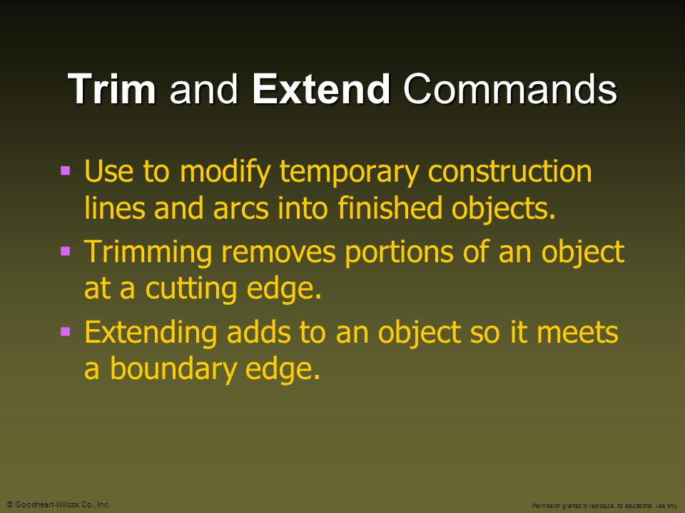 Trim and Extend Commands