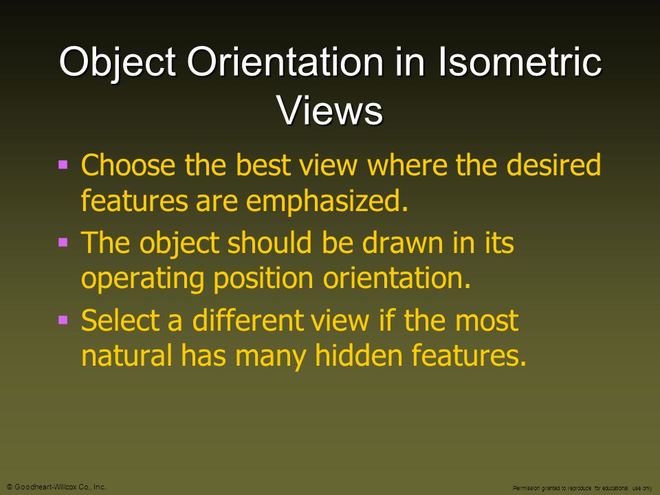 Object Orientation in Isometric Views
