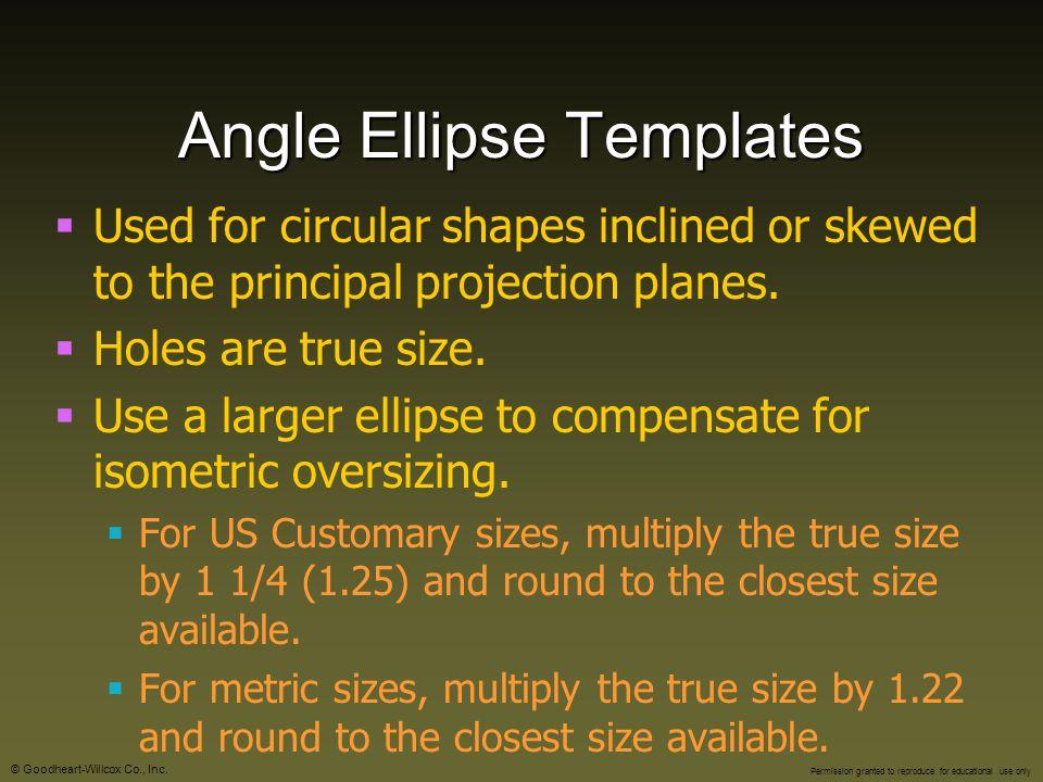 Angle Ellipse Templates